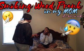 SMOKING WEED PRANK ON MOM!! (SHE WAS SO SAD) 8