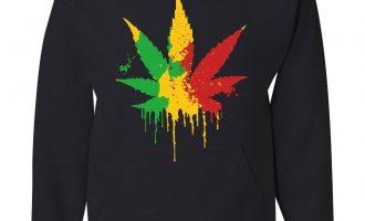 Pot Leaf Rasta Hoodie 420 Weed Using tobacco Reggae Cannabis 5