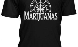 Seattle Marijuanas Parody Humorous Humor Weed Pot Leaf Stoner 420 Mens Vneck Tshirt 1