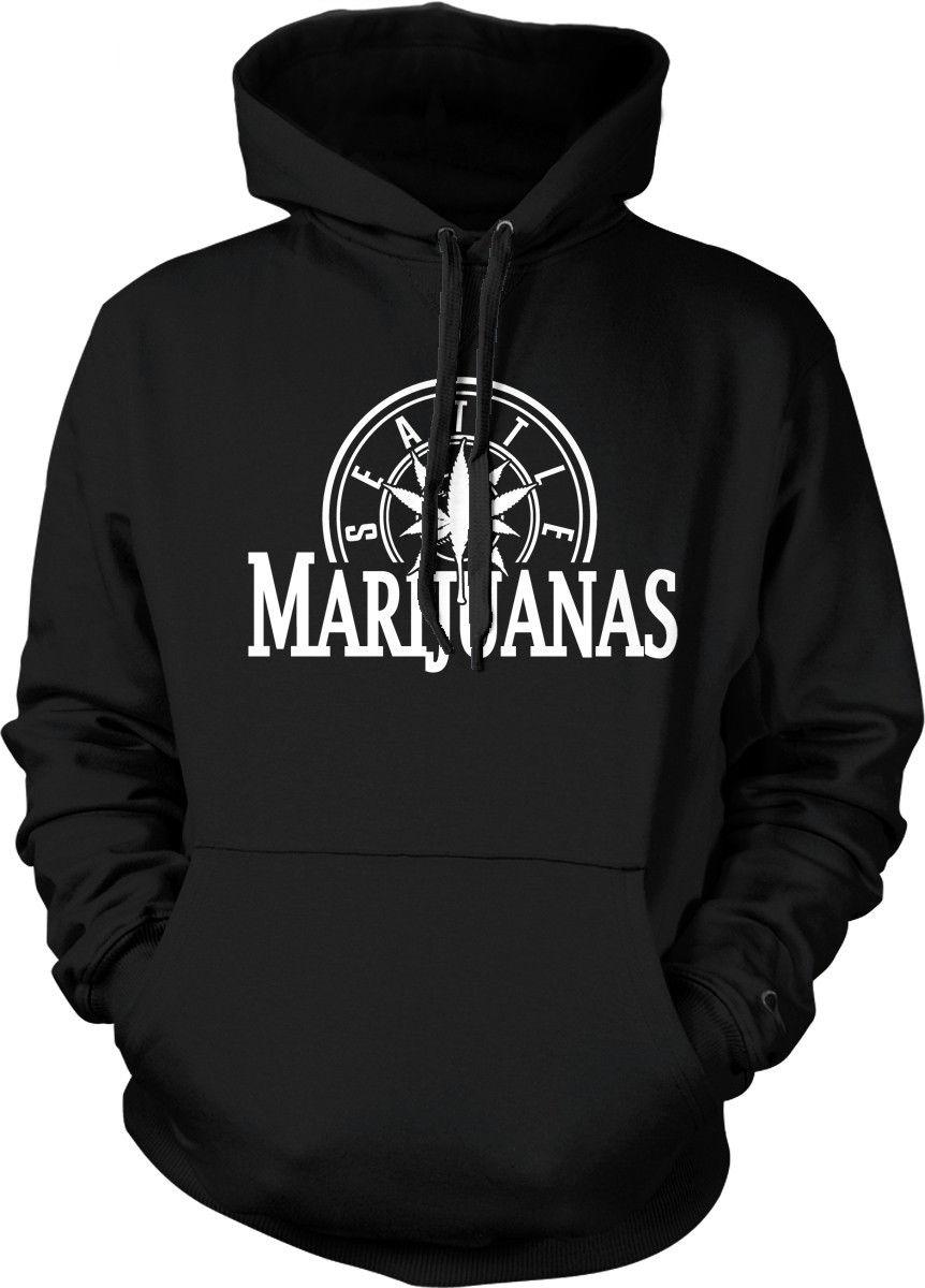 Seattle Marijuanas Parody Funny Humor Weed Pot Stoner Hoodie Pullover Sweatshirt 1