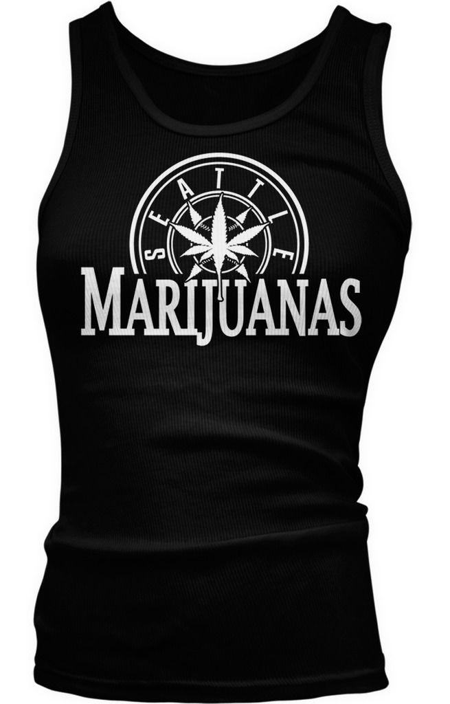 Seattle Marijuanas - Pot Head Weed Funny Sayings  Boy Beater Tank Top 1