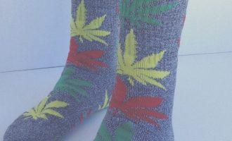 THC Marijuanas Leaf Socks THC A Grey 12