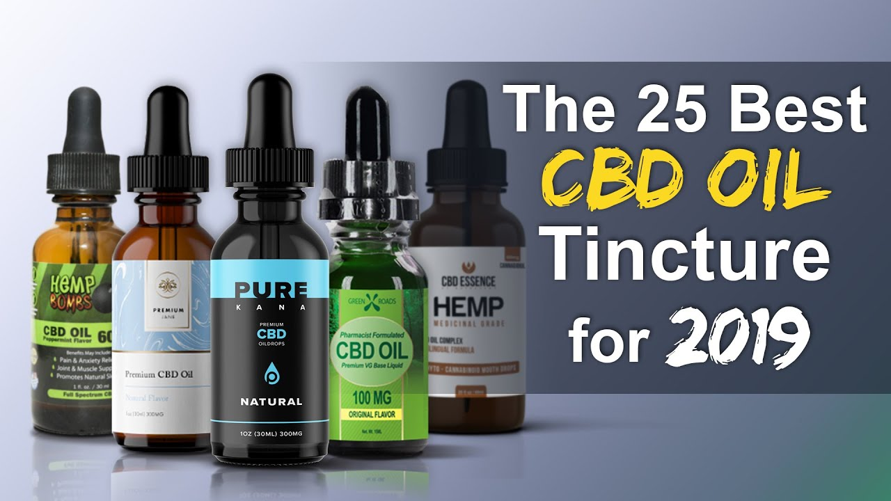 The 25 Best CBD oil Tinctures for 2018 [Update] 1