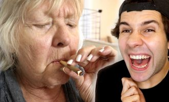 MY GRANDMA SMOKES WEED FOR FIRST TIME!! 12