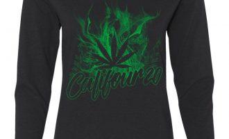 Califour 20 420 Women's Lengthy Sleeve Tee Pot Weed Using tobacco Cali CA 420 Cannabis 14