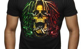New Rasta Cranium Men's Black T Shirt Tee Weed Kush Blunt Jamaican Smoke Cannabis 9