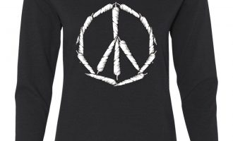 Peace Sign Weed Joints Women's Extensive Sleeve Tee Using tobacco 420 Hippie Pot Cannabis 1