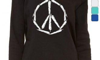 Peace Indicator Weed Joints Women's Sweatshirt Cigarette smoking 420 Hippie Pot Cannabis 7