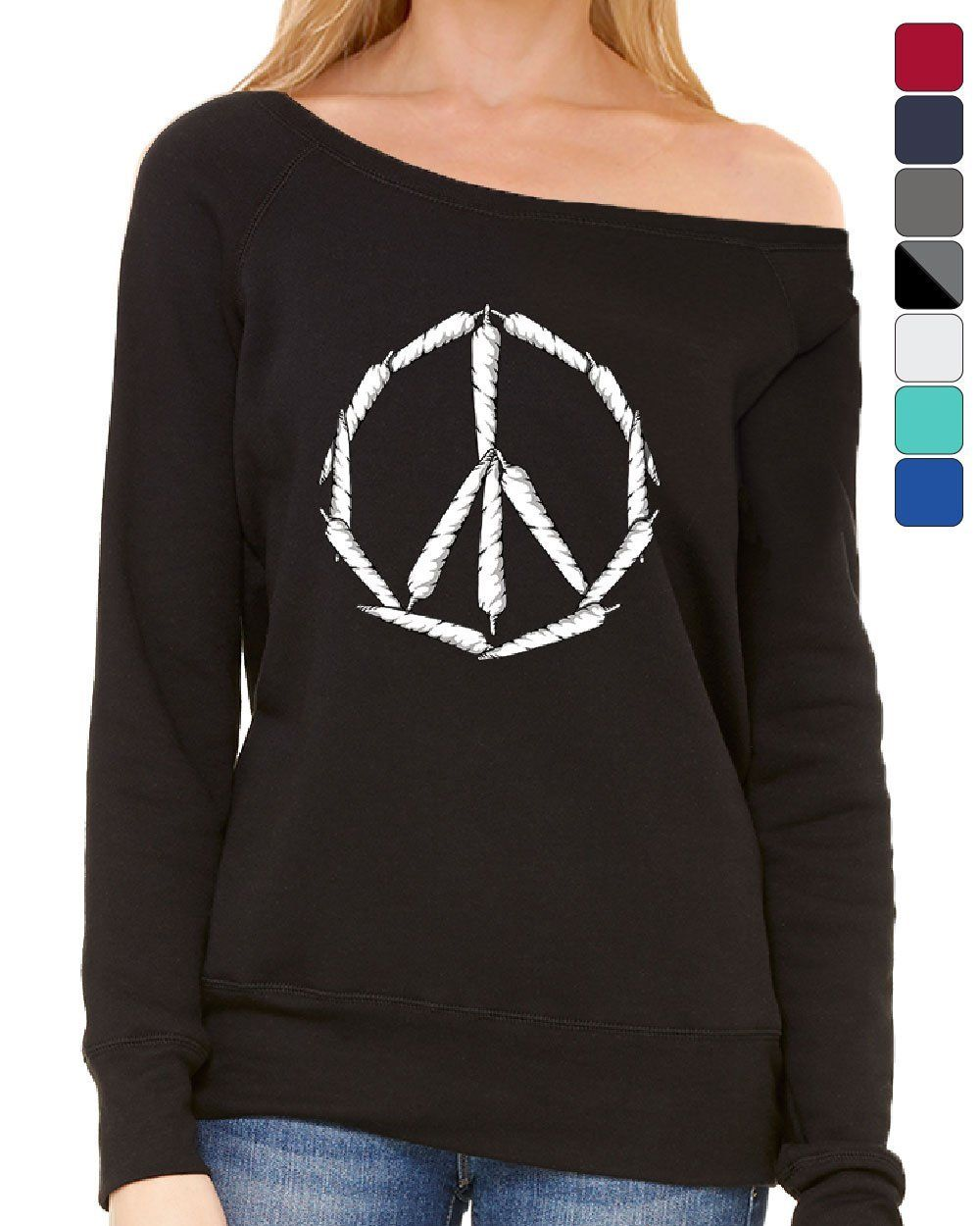 Peace Indicator Weed Joints Women's Sweatshirt Cigarette smoking 420 Hippie Pot Cannabis 1