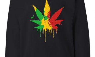 Pot Leaf Rasta Sweatshirt 420 Weed Using tobacco Reggae Cannabis 3