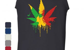 Pot Leaf Rasta Tank Best 420 Weed Smoking Reggae Cannabis 12