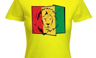 LION OF JUDAH FLAG WOMENS T-SHIRT - rasta reggae bob marley, cannabis, marijuana 5