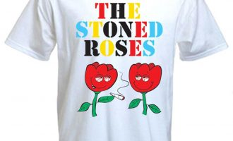 THE STONED ROSES T-SHIRT - Cannabis Pageant Stone Smoking Bong Cannabis 1
