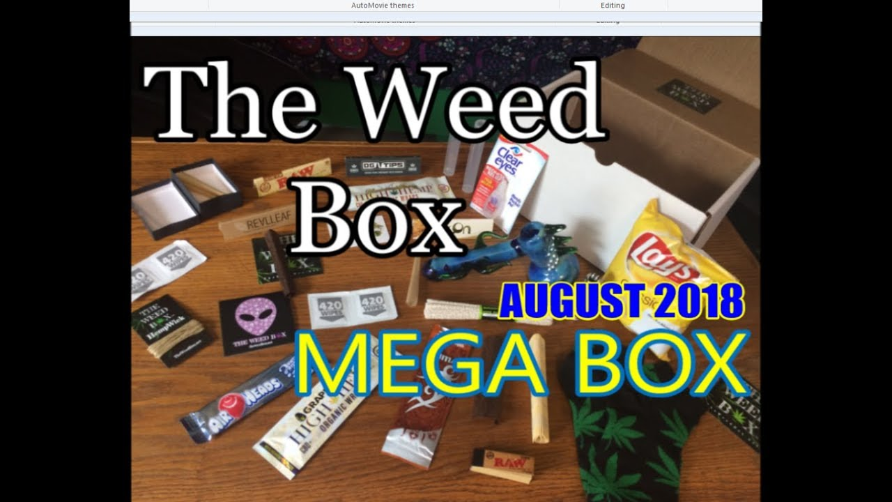 The MEGA Weed Box August 2018 Unboxing & Review 1