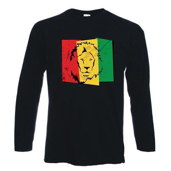 LION OF JUDAH FLAG LONG SLEEVE - rasta, reggae, bob marley, cannabis, marijuana 1