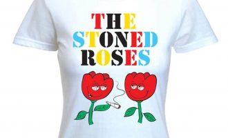 STONED ROSES WOMEN'S T-SHIRT - Cannabis Festival Stone Smoking Bong Marijuana 3
