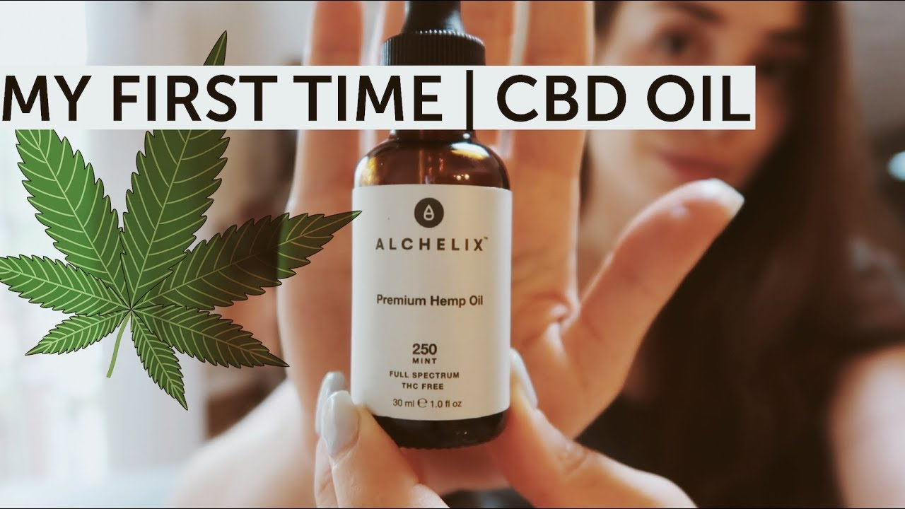 MY FIRST TIME | Trying CBD oil 1
