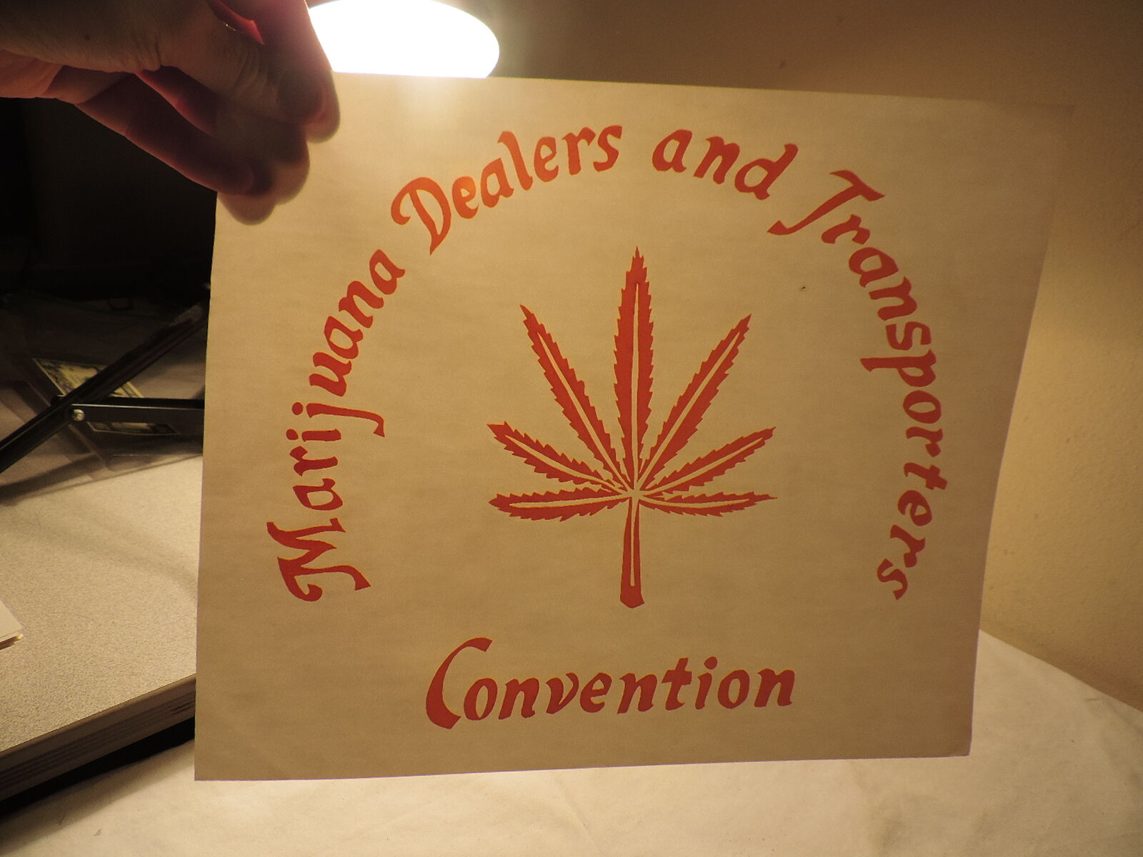 Marijuana's Dealers Transporters Convention IRON ON ROACH T SHIRT TRANSFER 61a 1