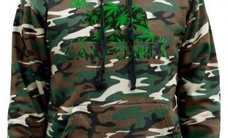 Men's California Republic Weed Leaf Bear Camo Hoodie Cali Life Blunt Marijuana 9