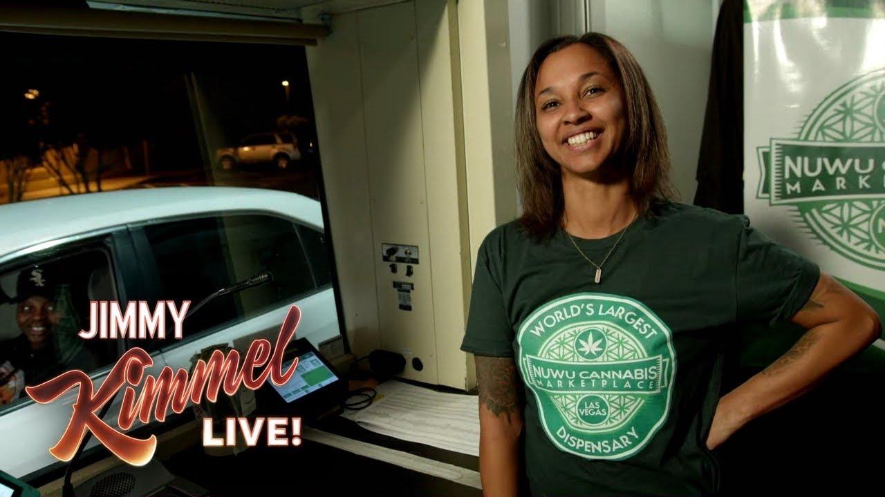 Jimmy Kimmel Talks to People Buying Weed at Marijuana Drive-Thru in Vegas 1