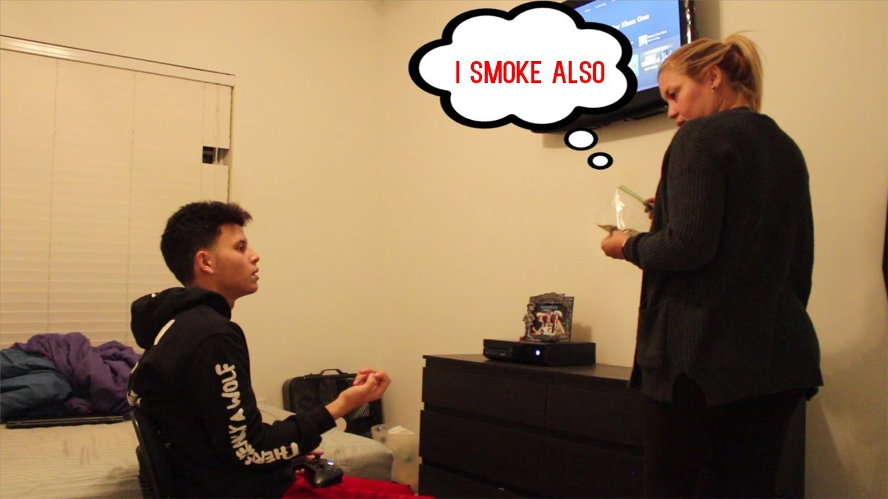 WEED PRANK ON MOM!! (GONE WRONG) 1