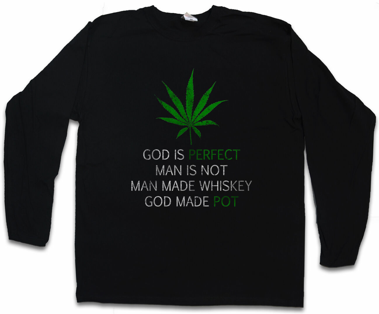 CANNABIS LEAF POEM LONG SLEEVE T-SHIRT Marihuana Weed Gras Ganja Marijuana 2