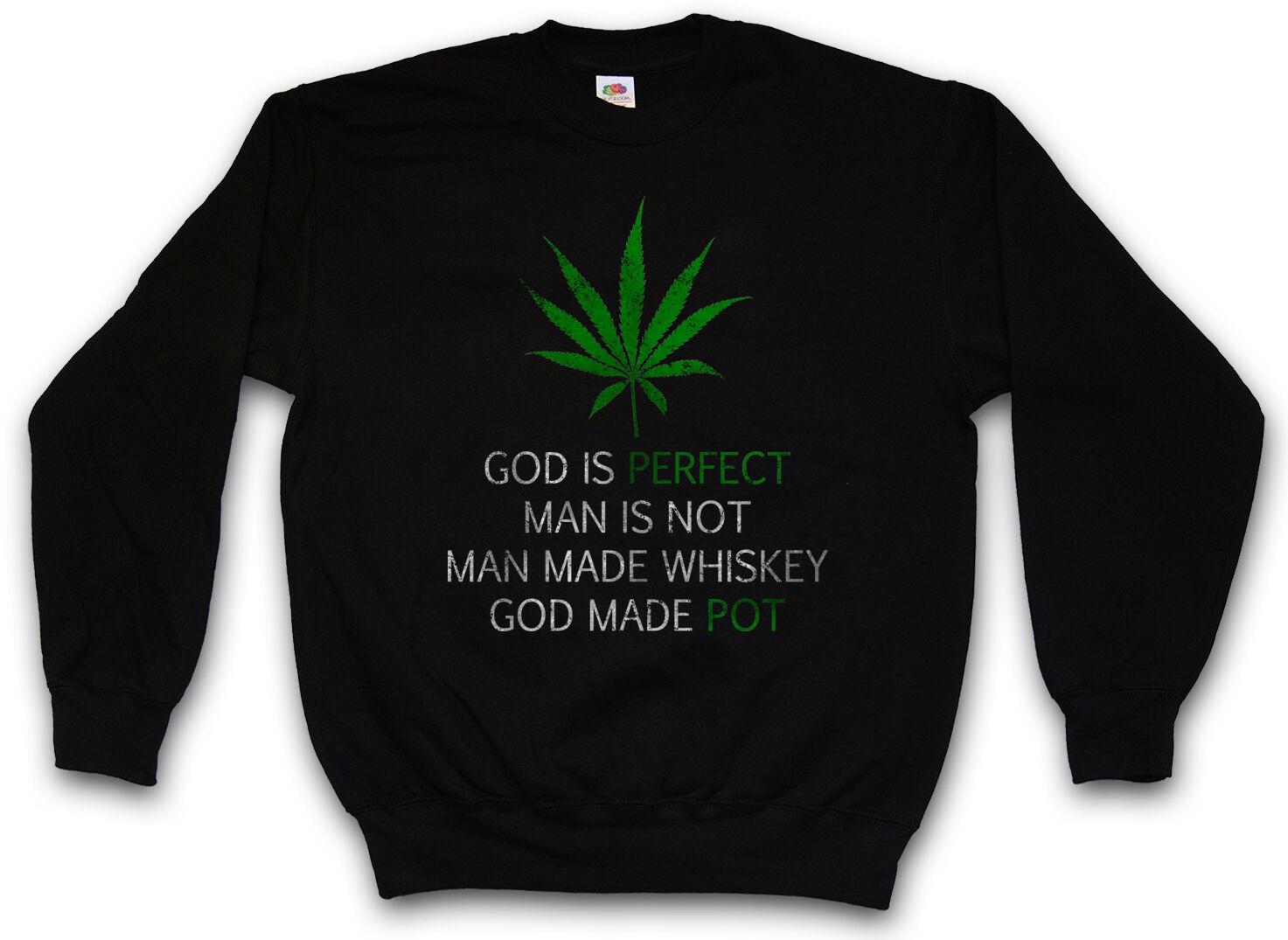 CANNABIS LEAF POEM SWEATSHIRT PULLOVER SWEATER Marihuana Weed Ganja Marijuana 1