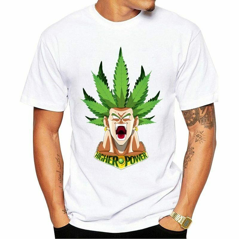 Dragon Ball Legendary figure Super Saiyan Broly Print T-shirts Fashion Marijuana 1