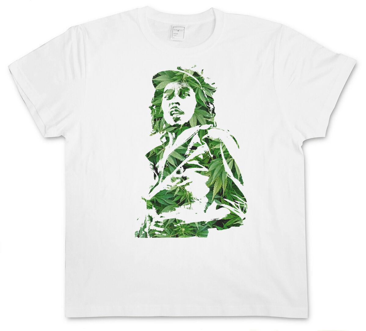 GANJA BOB I T-SHIRT - Jamaica Marley Cannabis Hemp Reggae Wailers Marijuana 1
