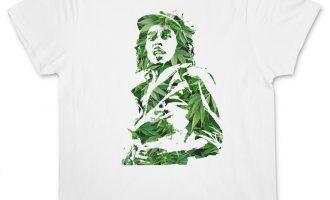 GANJA BOB I T-SHIRT - Jamaica Marley Cannabis Weed Hemp Reggae Wailers Marijuana 4