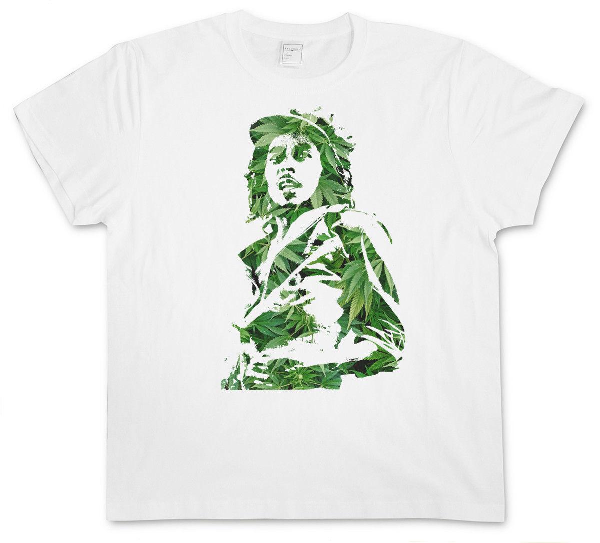 GANJA BOB I T-SHIRT - Jamaica Marley Cannabis Weed Hemp Reggae Wailers Marijuana 1
