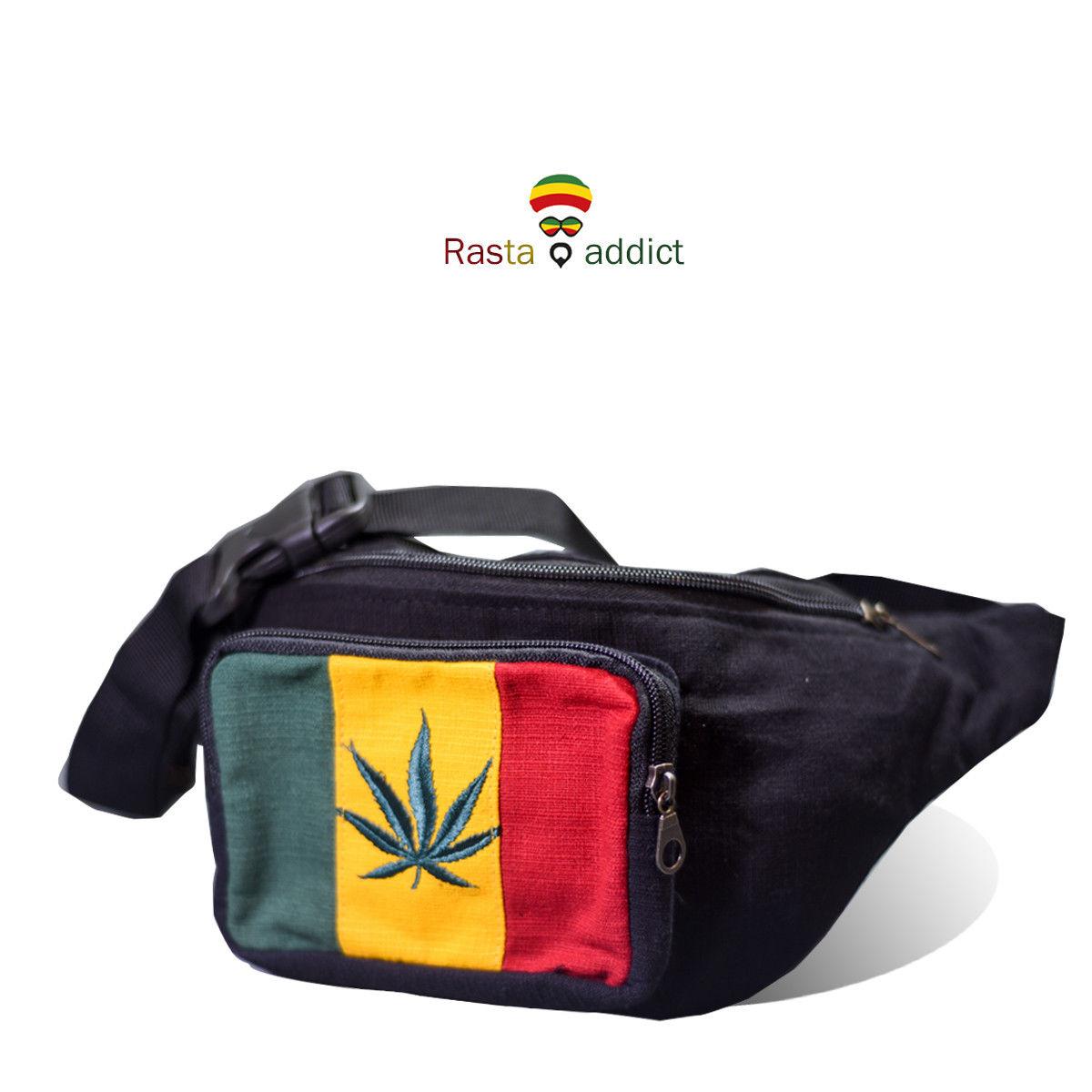 Rasta Marijuana S . Waist Bag Reggae Jamica Fanny Pack Bag Adjustable Belt 1