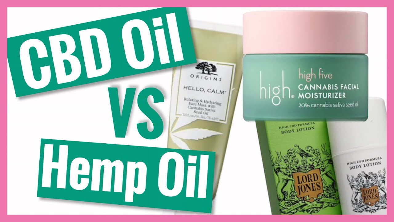 What's the difference between CBD and Hemp Oil Beauty Products? | Chemist Decodes CBD Beauty 1