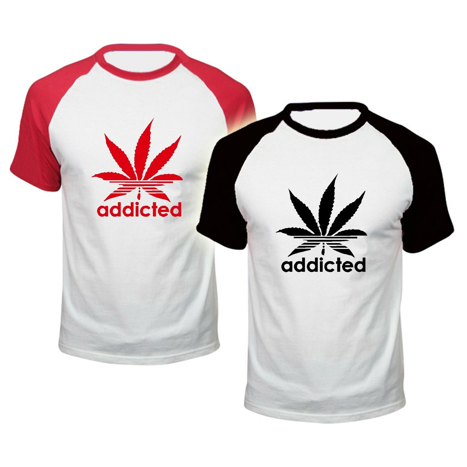 ADDICTED baseball xx T SHIRT addict CANNABIS WIZ KHALIFA PROSTo MARIJUANA 1