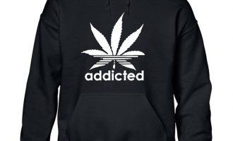 ADDICTED HOODY jumper SHIRT addict  CANNABIS WIZ KHALIFA PROSTo MARIJUANA 16