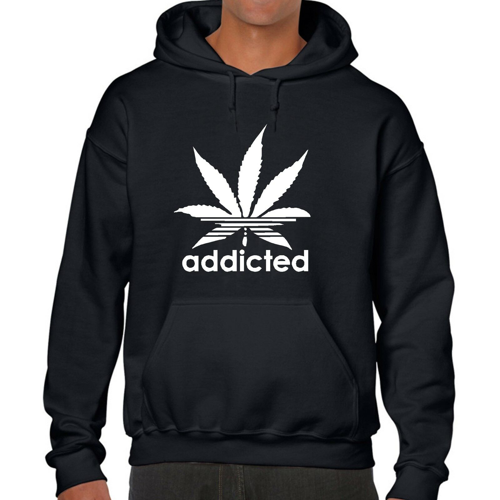 ADDICTED HOODY jumper SHIRT addict  CANNABIS WIZ KHALIFA PROSTo MARIJUANA 1