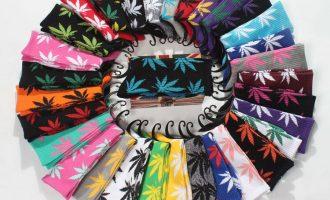 High Quality Mens Cotton Socks Fashion Marijuana leaf Casual Long Weed Sock 7-12 5