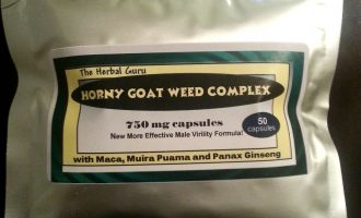 HORNY GOAT WEED Complex Maca, Muira Puama Panax Ginseng 50 count 1000mg Capsules 10