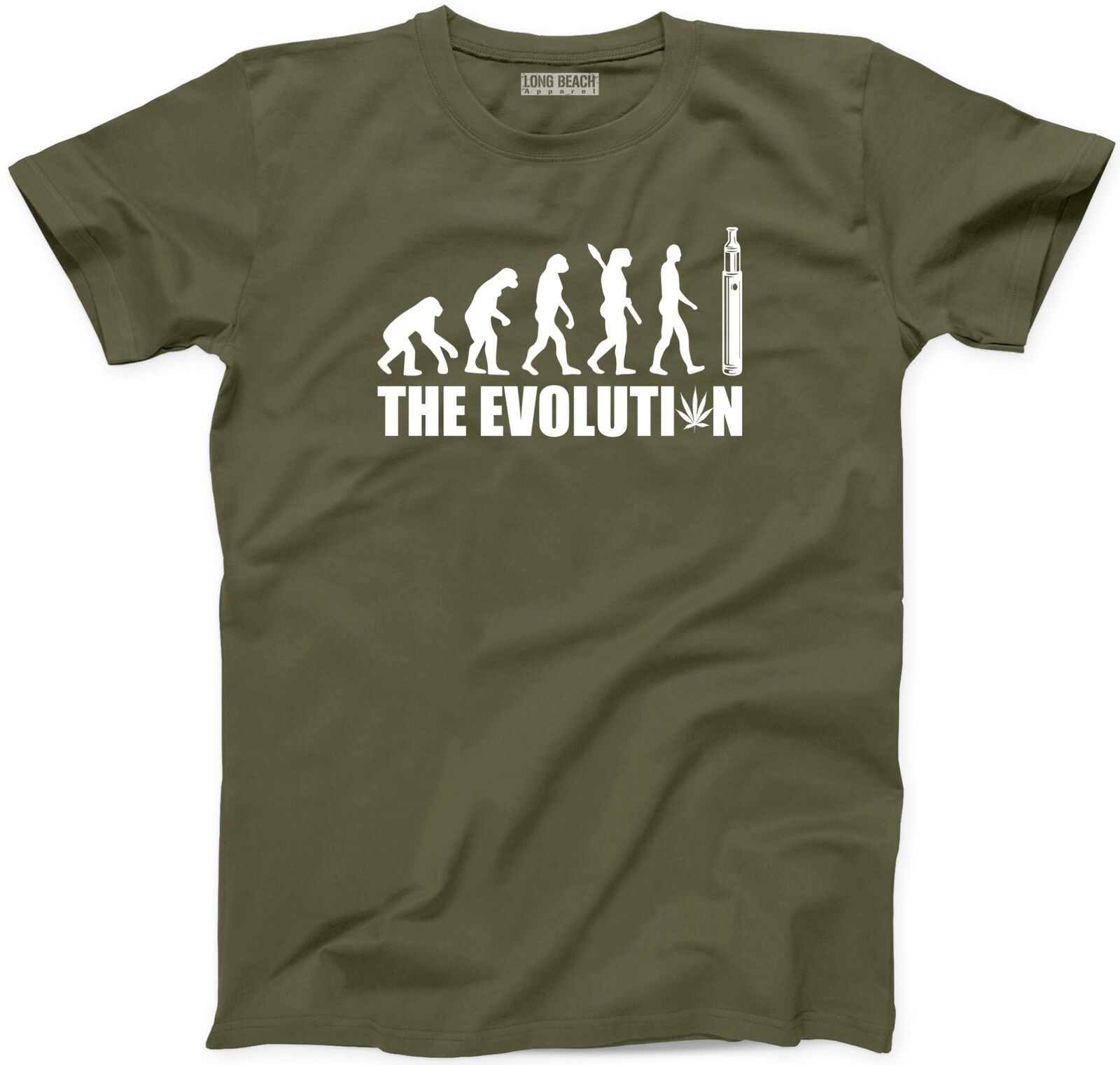 The Evolution Weed T-Shirt New Vape Medical Marijuana Funny Joint Smoke Tee 1