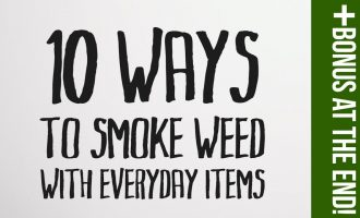 10 Ways to Smoke Weed With Everyday Items 1