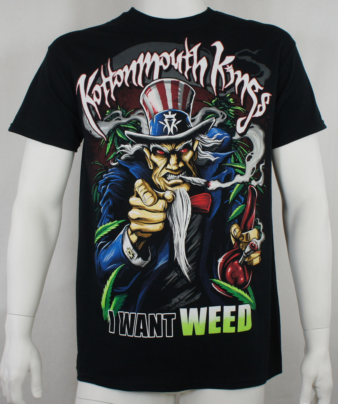 Authentic KOTTONMOUTH KINGS I Want Weed Logo T-Shirt S M L XL 2XL NEW 1