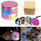 Large Stainless Spice Tobacco Herb Weed Grinder-4 Layers 40 x 35mm Rainbow Style 2