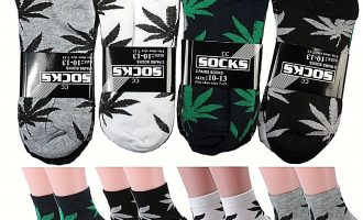 Lot 6-12 Pairs Mens Womens Leaf Weed Marijuana Cotton Ankle Casual Low Cut Socks 9