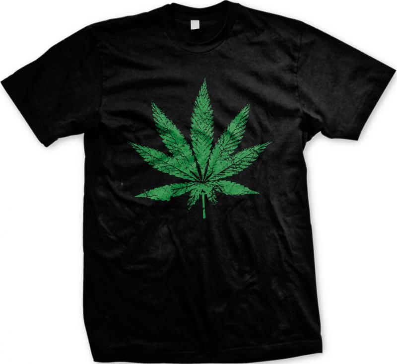 Marijuana Pot Leaf Weed Ganja 420 Smoke Natural Herb Plant Pride Mens T-shirt 1