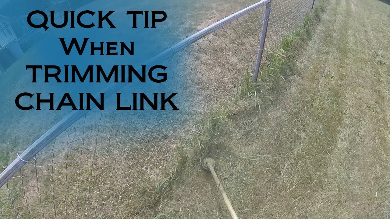 How To Weed Eat | Trim | Weed Whack around Chain Link Fence - Quick Tips - Stihl FS 80 1