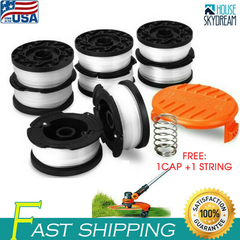 8 Pack Black Decker String Trimmer Replacement Part Line Spool Weed Eater Edger 1
