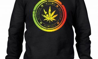 Cannabis Leaf Men's Sweatshirt Jumper - Weed Skunk Marijuana 3