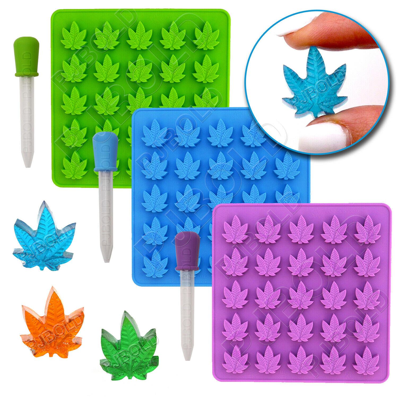 Marijuana Cannabis Hemp Leaf Silicone Molds Candy Weed Pot Mold Chocolate Gummy 1