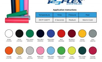 123Flex Easy Weed IRON-ON Heat Transfer Vinyl In Multiple Size Options 6