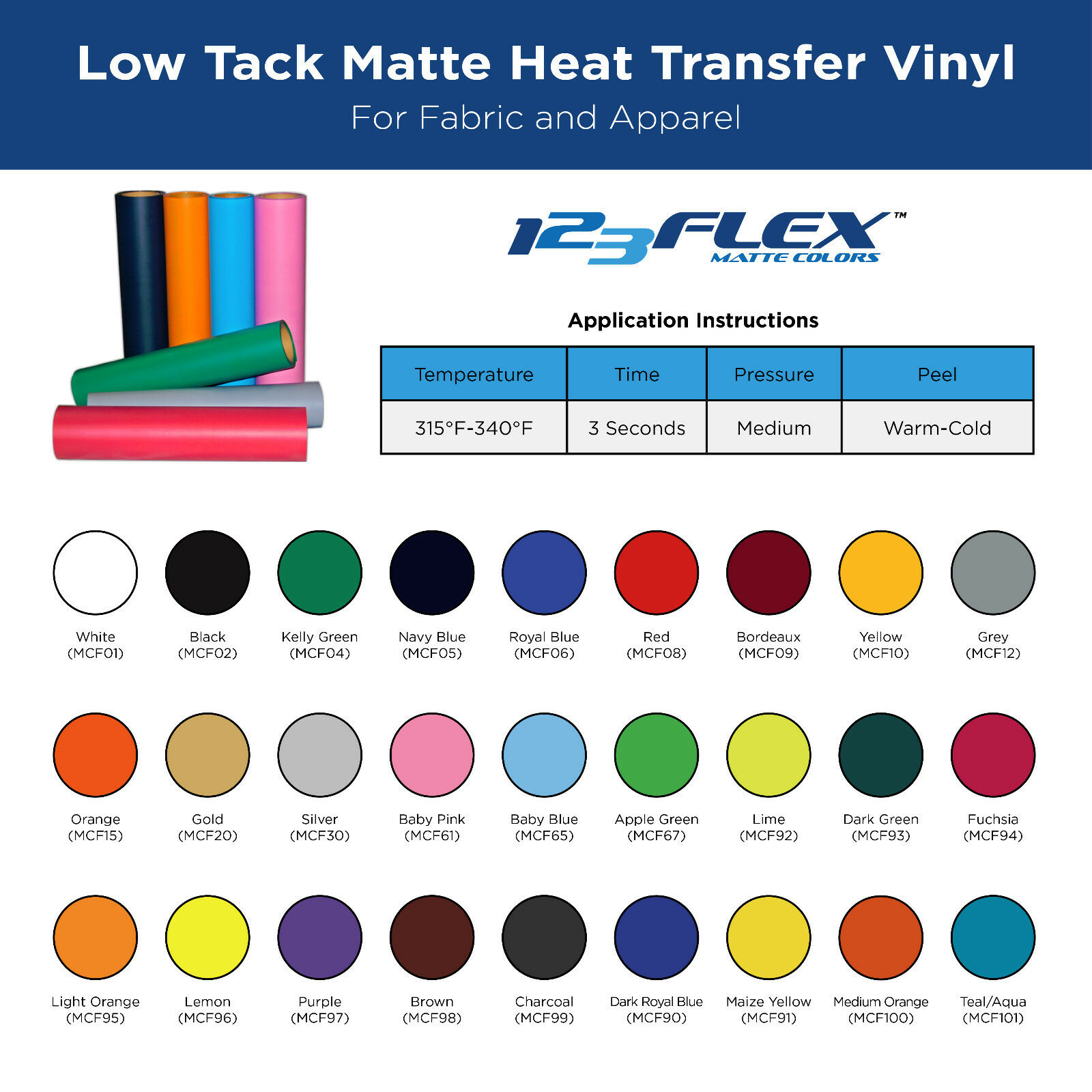 123Flex Easy Weed IRON-ON Heat Transfer Vinyl In Multiple Size Options 1